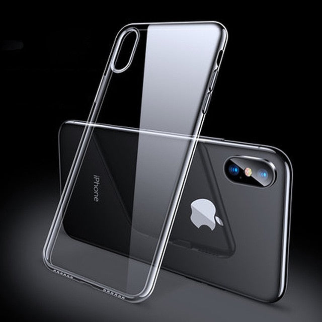 Premium Clear Phone Case for iPhone X XR XS 8 7 6 s Plus {Ultra Thin Slim Soft TPU Silicone}