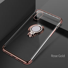 Load image into Gallery viewer, Finger Ring Holder Cover Ultra Thin Transparent Clear Phone Case For iPhone XS MAX XR X 8 7 6 6S Plus