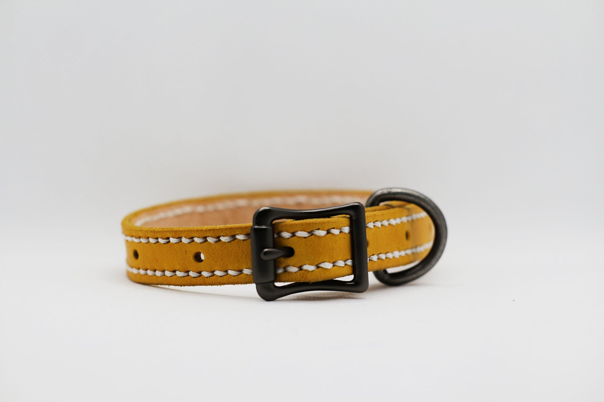 Standard Leather Collar with Stitching
