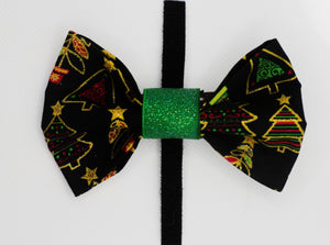 Glitter Trees Bow Tie