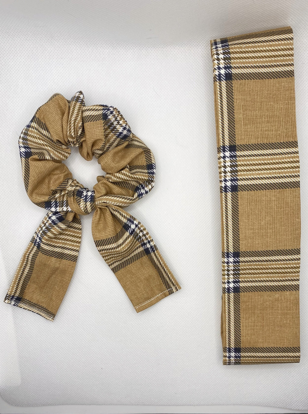 Navy Burberry Plaid Matching Accessories