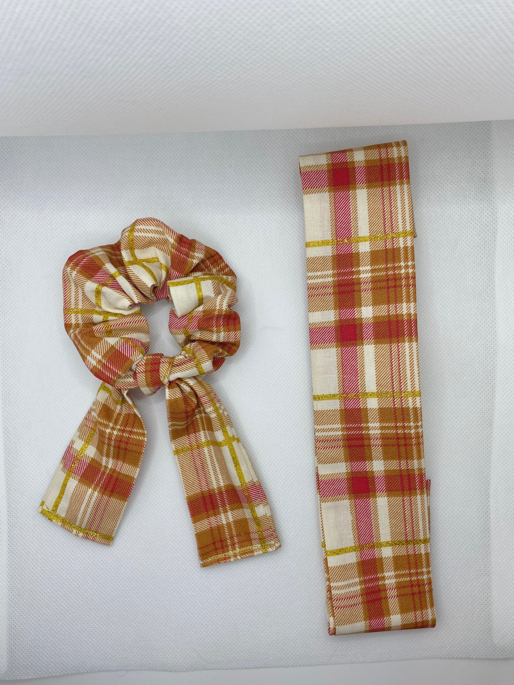 Pink Burberry Plaid Matching Accessories