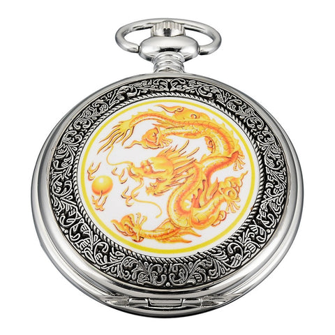 Montre Gousset Dragon <br> de Feu (Quartz)