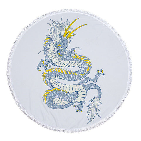 Serviette dragon <br> de glace (rond)