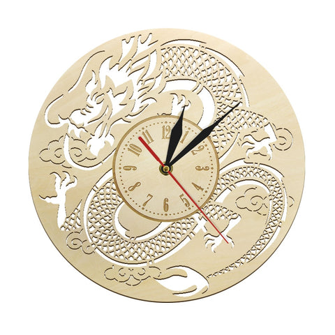 Horloge murale dragon <br> de chine