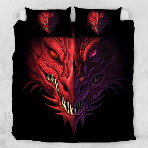 Housse de couette dragon <br> Poker Face