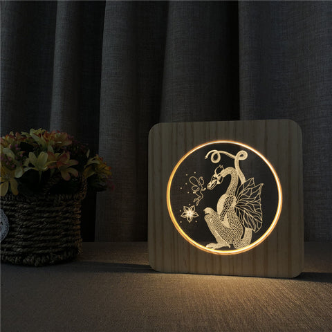Lampe dragon <br> Lóng de Chine