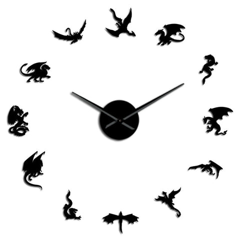 Horloge murale dragon <br> pose du dragon