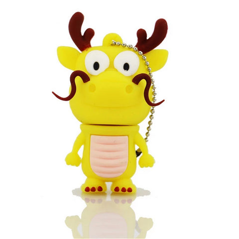 Clé USB dragon <br> fantaisie jaune