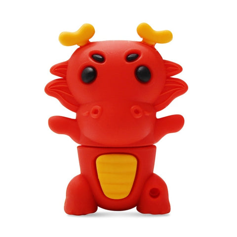 Clé USB dragon <br> fantaisie rouge