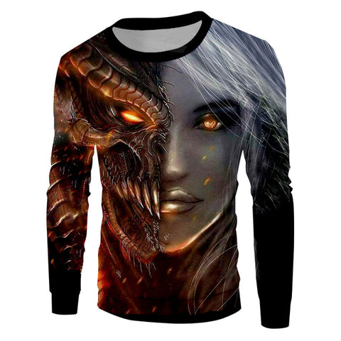 Sweat-shirt dragon <br> femme dragon (léger)