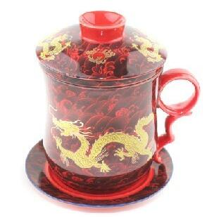 Tasse de Thé Dragon <br> Rouge