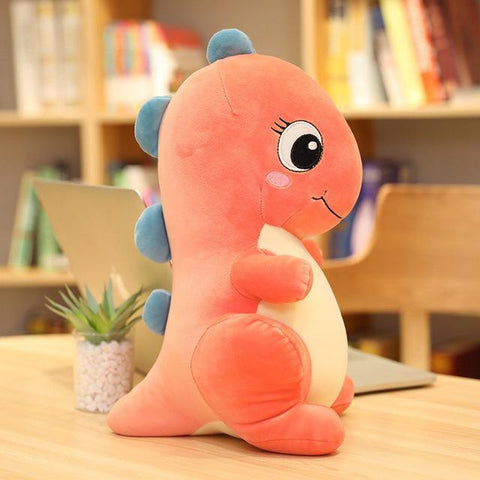 Peluche dragon <br> bébé Lindworm orange
