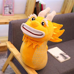 Peluche dragon <br> Jaune de Chine