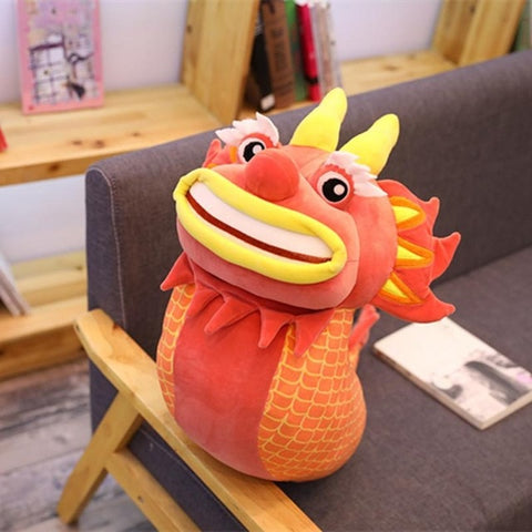 Peluche dragon <br> rouge chinois