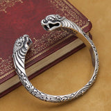 Bracelet dragon <br> Viking (ARGENT)