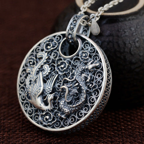 Collier Dragon <br> Argent