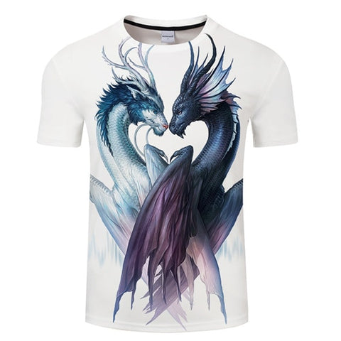 T-shirt dragon <br> amour des dragons