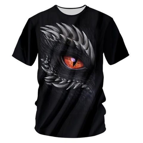 T-shirt dragon <br> oeil rouge