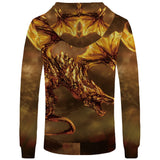 Sweat dragon <br> cracheur de flamme doré