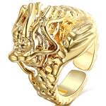 Bague dragon chinois or