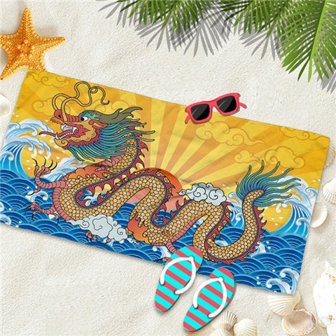 Serviette dragon <br> fantaisie
