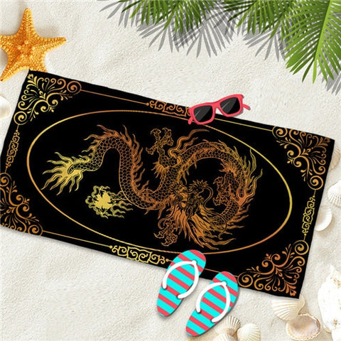 Serviette dragon <br> de chine de plage