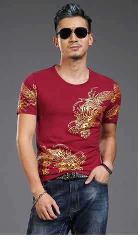 T-shirt dragon <br> Rustique