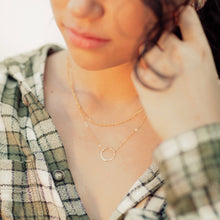 Load image into Gallery viewer, Dainty Karma Circle Necklace