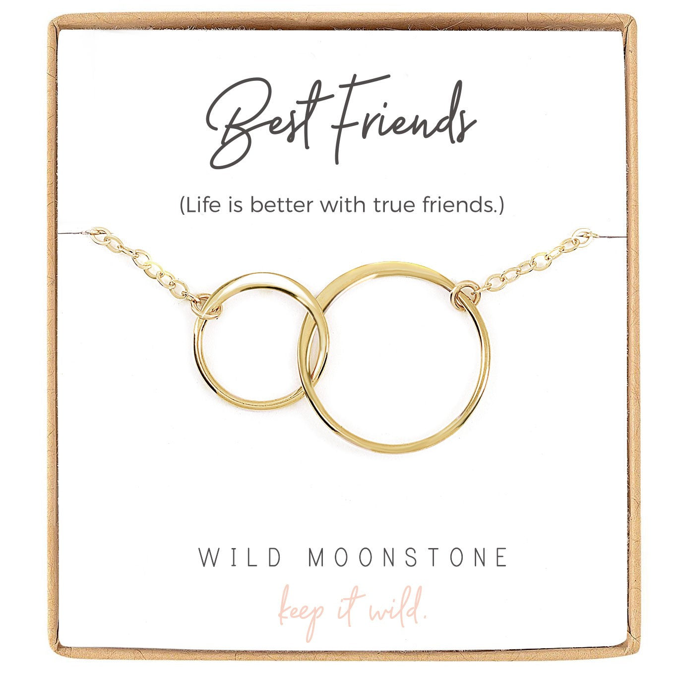 Best Friend Infinity Circle Necklace