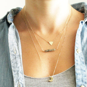 Triangle Initial Necklace, Personalized