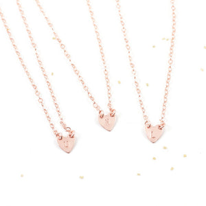 Monogram Initial Heart Necklace