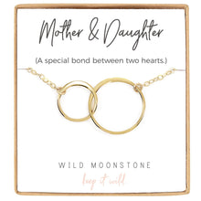 Load image into Gallery viewer, Mother and Daughter Interlocking Circle Necklace