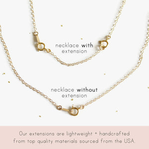 "Necklace Extender Chain - 3 Piece Set - 2"", 3"", 4"""