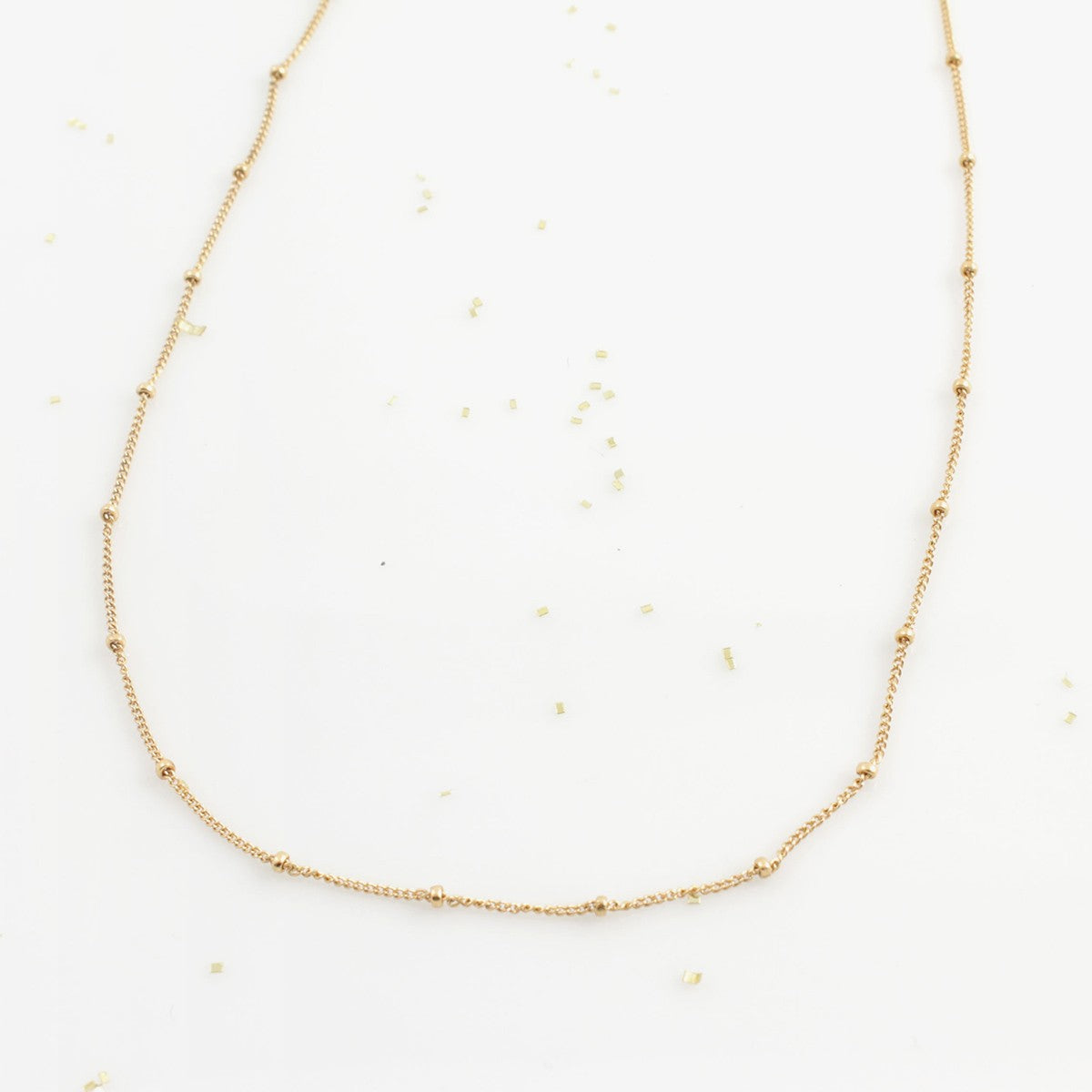 Simple Everyday Gold Bead Necklace