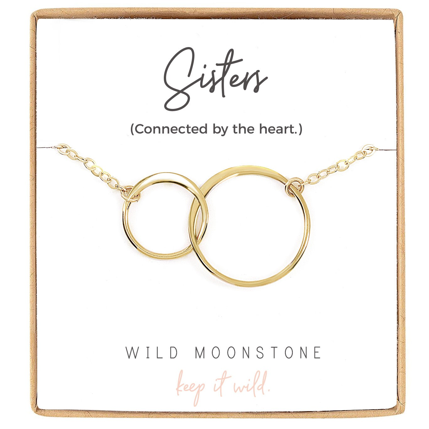 Sisters Interlocking Circle Necklace