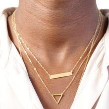 Load image into Gallery viewer, Personalized Gold Bar Necklace