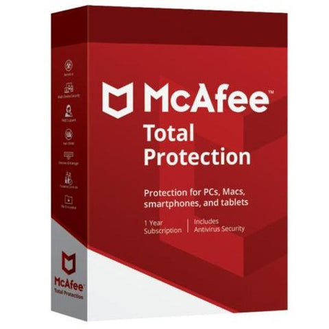 McAfee Total Protection 5 Device 1 Year