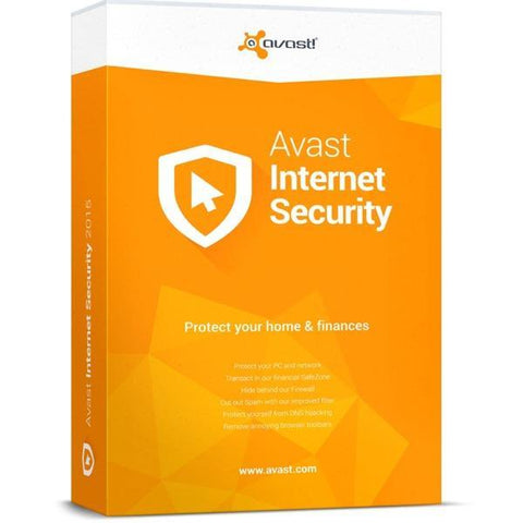 Avast! Internet Security 3 PC / 1 Year