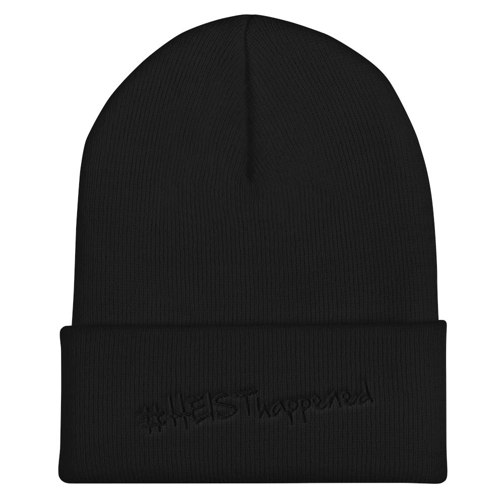 Embroidered #HeistHappened Cuffed Beanie