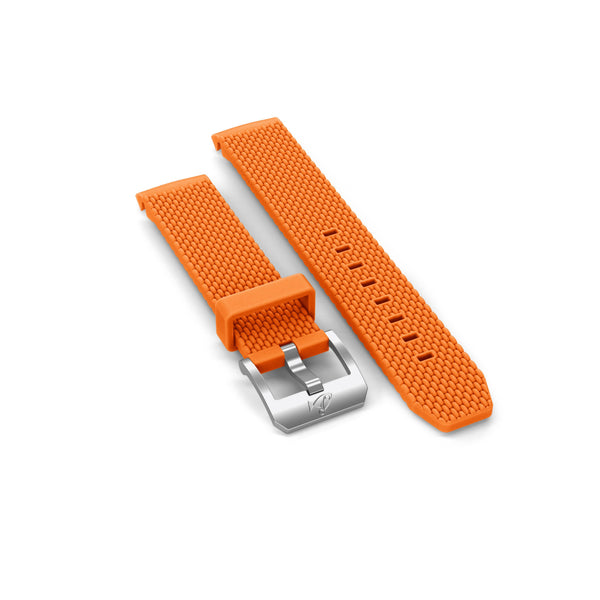 Rubber strap with buckle, Orange