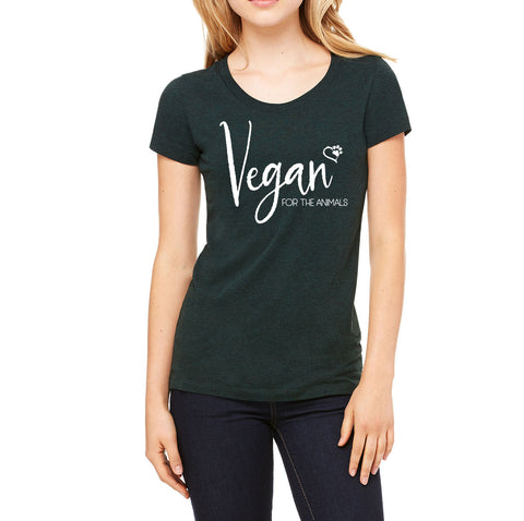Vegan For the Animals Emerald Tee