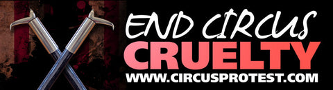 "3x10 ""End Circus Cruelty"" Bumper Stickers"
