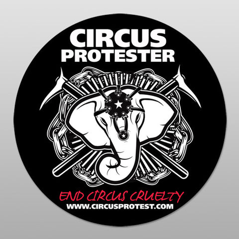 "4x4 ""Circus Protester"" Round Stickers"