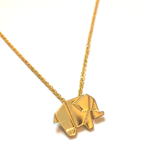 """Origami"" Elephant Necklace"