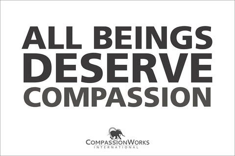 All Beings Deserve Compassion Vinyl Poster