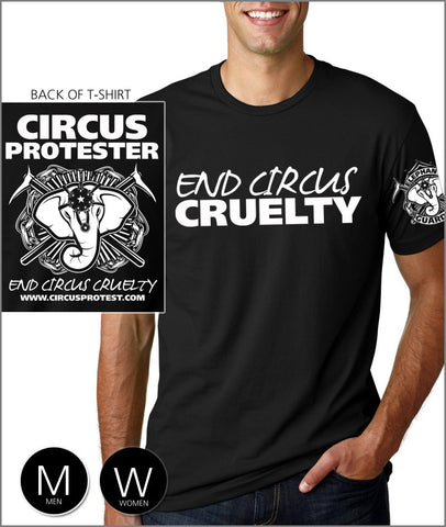 """End Circus Cruelty"" Elephant Guardian - T-Shirt"
