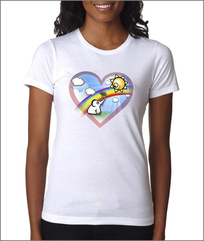 Hearts and Eles Ladies t-shirt