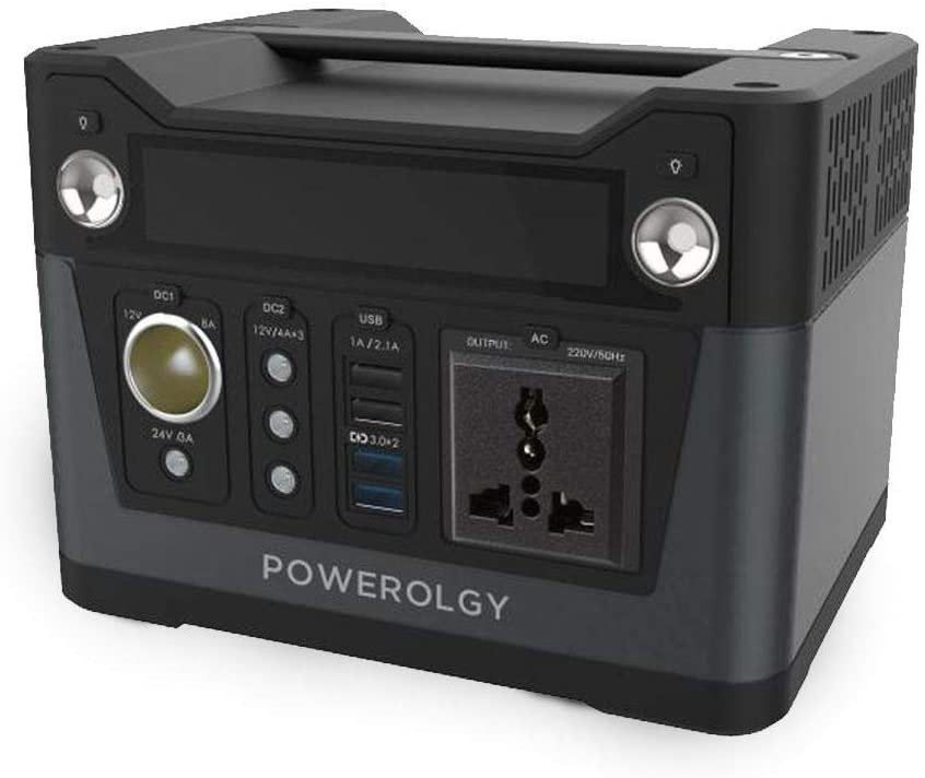 Powerology Portable Power Generator 75000mAh 300W QC3.0 - Black