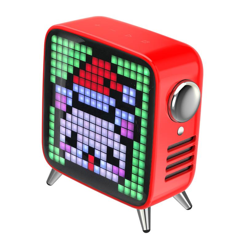 Divoom Tivoo Max Premium  Pixel Art LED Bluetooth Speaker RED color